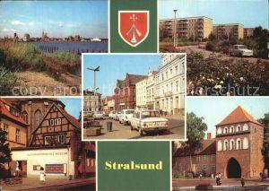 Stralsund Mecklenburg Vorpommern Hafen Leninplatz Friedrich Wolff Str Kulturhist Museum Kniepertor Kat. Stralsund