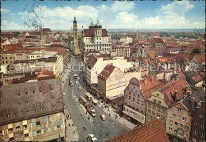 Augsburg Maximilianstr mit Rathaus und Perlachturm Kat. Augsburg