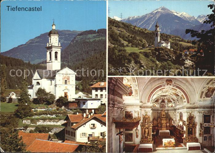 Tiefencastel Kath Kirche Inneres Kat. Tiefencastel