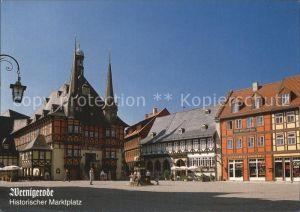 Wernigerode Harz Marktplatz mit Rathaus Kat. Wernigerode