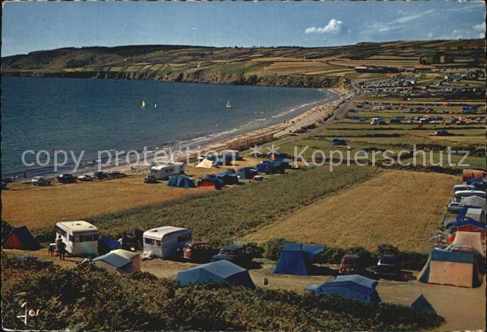 Telgruc sur Mer Vue sur la plage de Trez Bellec et ses campings Kat. Telgruc sur Mer