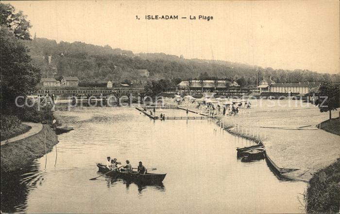 L Isle Adam La Plage Strand Kat. L Isle Adam