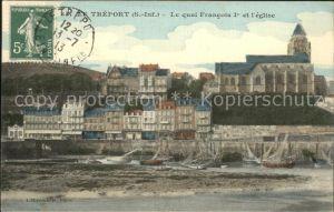 Le Treport Quai Francois Ier Eglise Kat. Le Treport