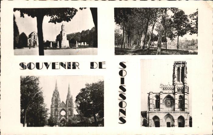 Soissons Aisne Eglise Cathedrale Allee Kat. Soissons