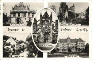 Vendome Porte Saint Georges Chateau Hotel de Ville Eglise de la Trinite Bords du Loir Kat. Vendome