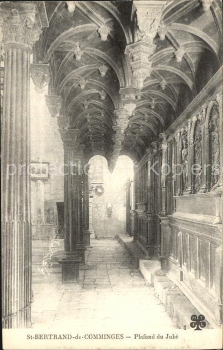 Saint Bertrand de Comminges Plafond du Jube Kat. Saint Bertrand de Comminges