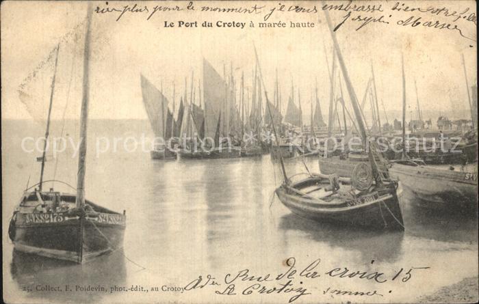 Crotoy Le Le Port a maree haute Bateaux Kat. Le Crotoy