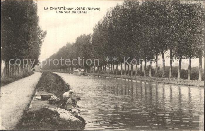 La Charite sur Loire Vue vue du Canal Kat. La Charite sur Loire