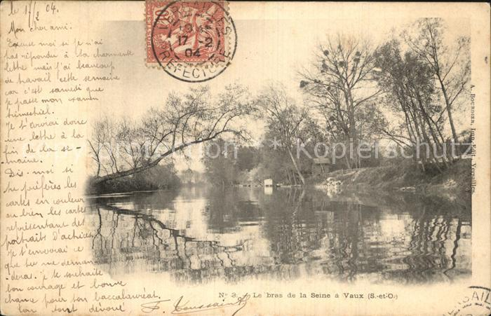 Vaux sur Seine Le Bras de la Seine Kat. Vaux sur Seine