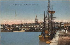 Saint Malo Ille et Vilaine Bretagne Le Bassin a Flots Bateau Kat. Saint Malo