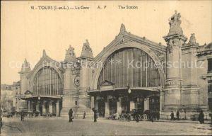 Tours Indre et Loire La Gare Bahnhof Kat. Tours