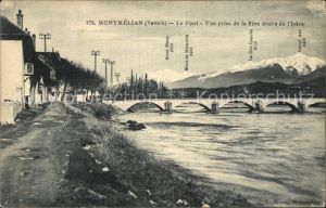 Montmelian Le Pont vue prise de la Rive droite de l Isere Kat. Montmelian