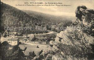 Puy de Dome La Route de la Chaise Dieu a Arlanc au village du Pont Kat. Neuville