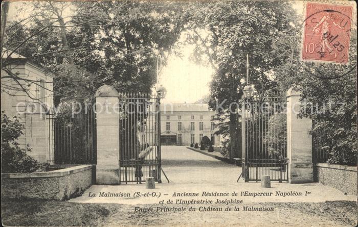 La Malmaison Ancienne Residence de l Empereur Napelon Ier Imperatrice Josephine Entree Principale du Chateau Kat. La Malmaison