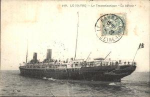 Le Havre Le Transatlantique La Savoie Paquebot Kat. Le Havre