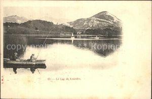 Lourdes Hautes Pyrenees Le Lac Bateau Montagnes Kat. Lourdes