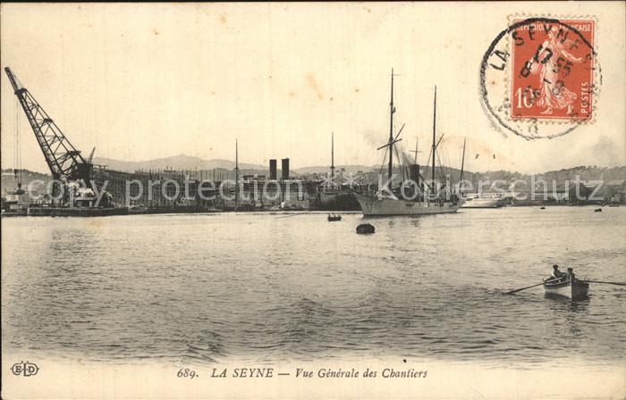 La Seyne sur Mer Vue generale des Chantiers Bateaux Kat. La Seyne sur Mer