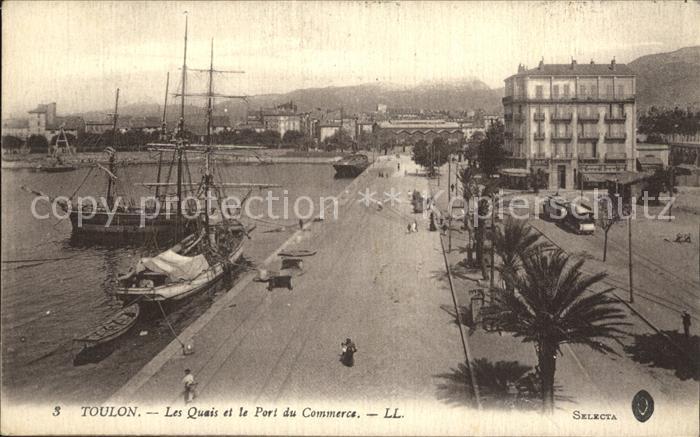 Toulon Var Les Quais Port du Commerce Bateaux Kat. Toulon
