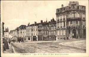 Commercy Meuse Bas de la Place et Rue Rene Grosdidier Kat. Commercy