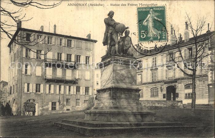 Annonay Statue des Freres Montgolfier Monument Kat. Annonay