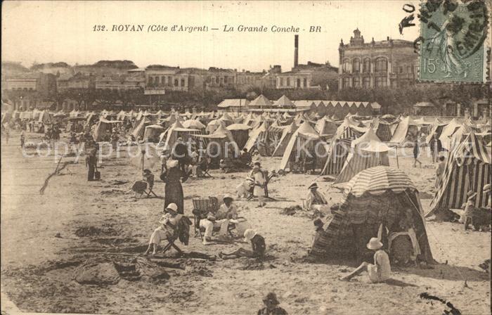 Royan Charente Maritime La Grande Conche Plage Strand Kat. Poitiers Charentes