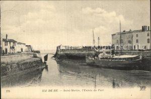 Ile de Re Saint Martin Entree du Port Bateau Kat. Saint Martin de Re