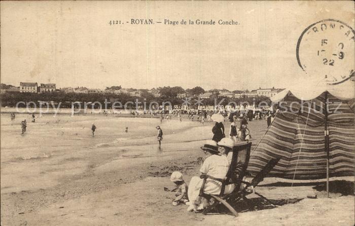 Royan Charente Maritime Plage de la Grande Conche Strand Kat. Poitiers Charentes