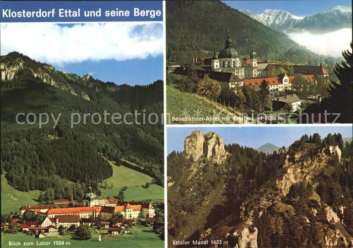 Ettal Laber Benediktinerabtei Krottenkopf Ettaler Mandl Kat. Ettal
