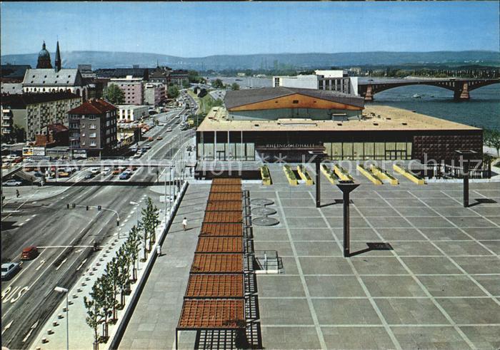 Mainz Rhein Rathausplatz Rheingoldhalle Theodor Heuss Bruecke
