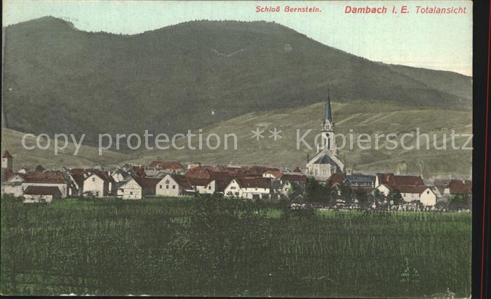 Dambach Haguenau Schloss Bernstein  Kat. Dambach