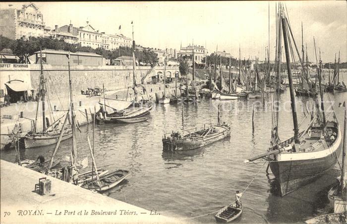 Royan Charente Maritime Port Bateaux Boulevard Thiers Kat. Poitiers Charentes