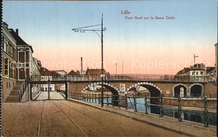 Lille Nord Pont Neuf sur la Basse Deule Kat. Lille