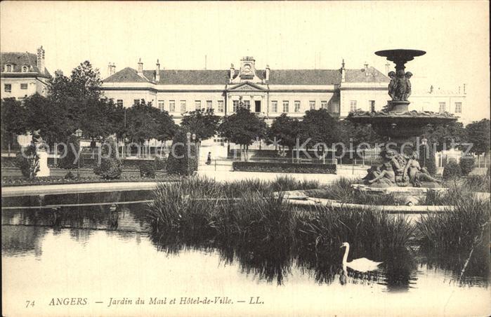 Angers Jardin du Mail Hotel de Ville Kat. Angers Nr. dp82272 ...