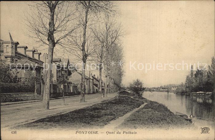 Pontoise  Val d Oise Quai du Pothuis Kat. Pontoise