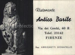 Firenze Toscana Ristorante Antico Barile Kat. Firenze