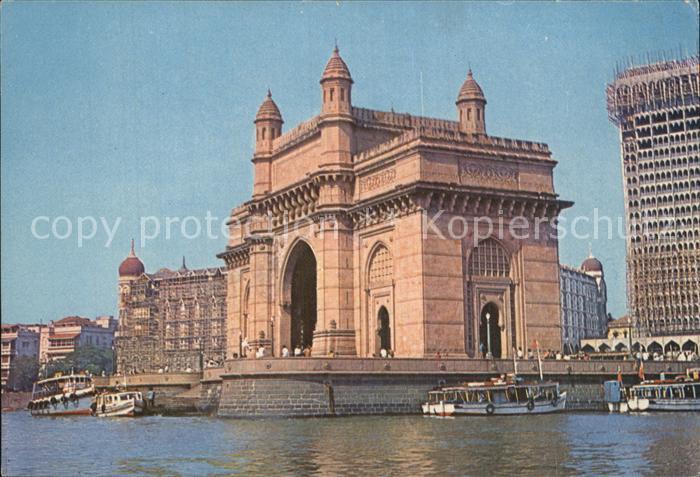 Bombay Mumbai Gateway of India und Taj Mahal Hotel