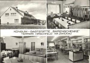 Hirschfeld Zwickau Gaststaette Baerenschenke  Kat. Hirschfeld Zwickau