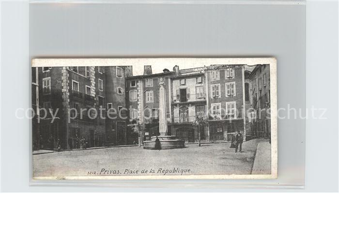 Privas Place de la Republique Monument Kat. Privas
