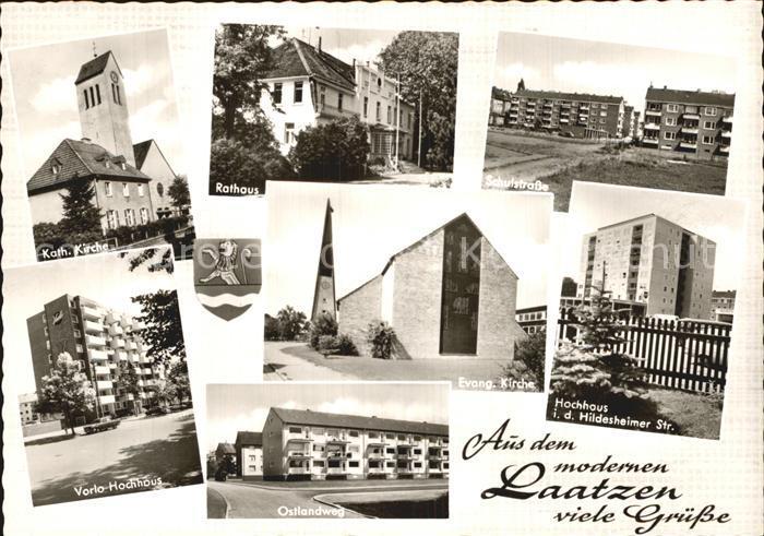 Laatzen Hannover Kath Kirche Rathaus Schulstr Vorlo Hochhaus Ostlandweg Ev Kirche Hochhaus Kat. Laatzen