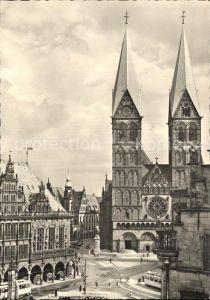 Bremen Marktplatz mit Dom und Rathaus Kat. Bremen