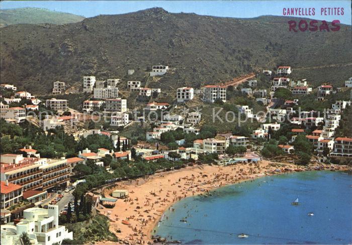 Rosas Costa Brava Cataluna Playa y zona residencial de Canyelles Petites Kat. Alt Emporda