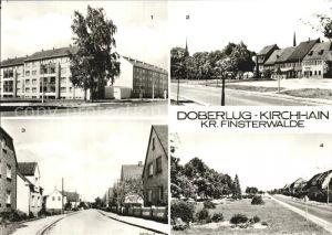 Doberlug Kirchhain Am gruenen Berg Hauptstrasse Karl Marx Strasse Kat. Doberlug Kirchhain