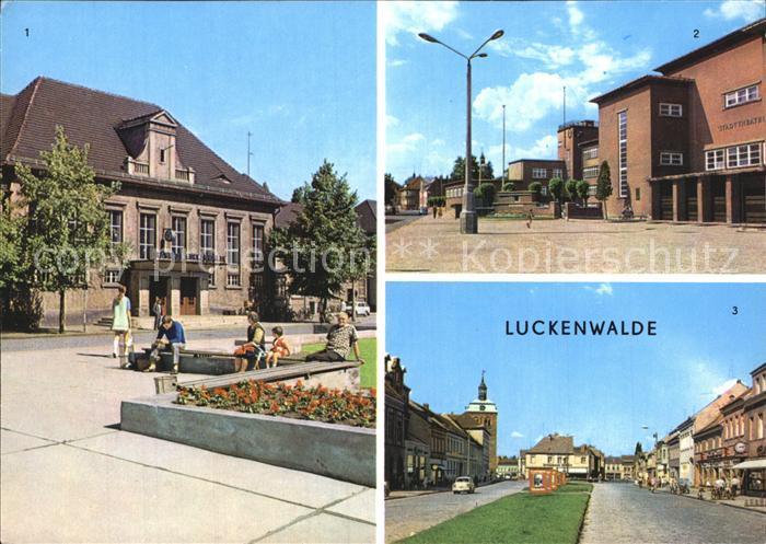 Luckenwalde Bahnhof Stadttheater Ernst Thaelmann Strasse Kat. Luckenwalde