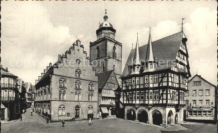 Alsfeld Marktplatz Rathaus Kat. Alsfeld