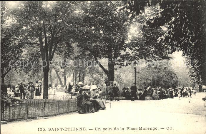 Saint Etienne Loire Un coin de la Place Marengo Kat. Saint Etienne