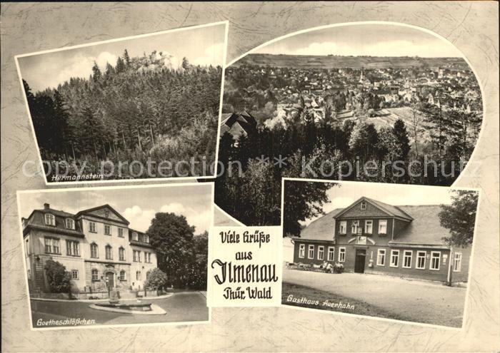 Ilmenau Thueringen Hermannstein Gasthaus Auerhahn Goetheschloesschen Kat. Ilmenau