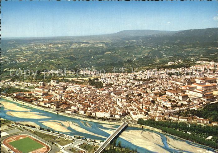 Coimbra Fliegeraufnahme mit Bruecke Kat. Coimbra