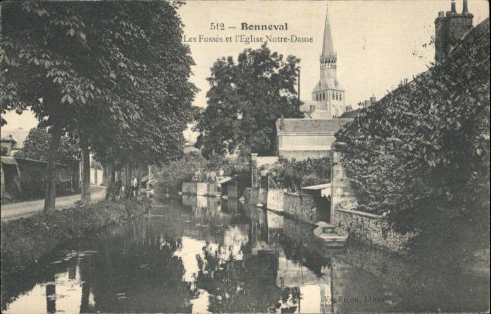 Bonneval d Eure-et-Loir Les Fosses et l'Eglise Notre-Dame * / Bonneval /Arrond. de Chateaudun