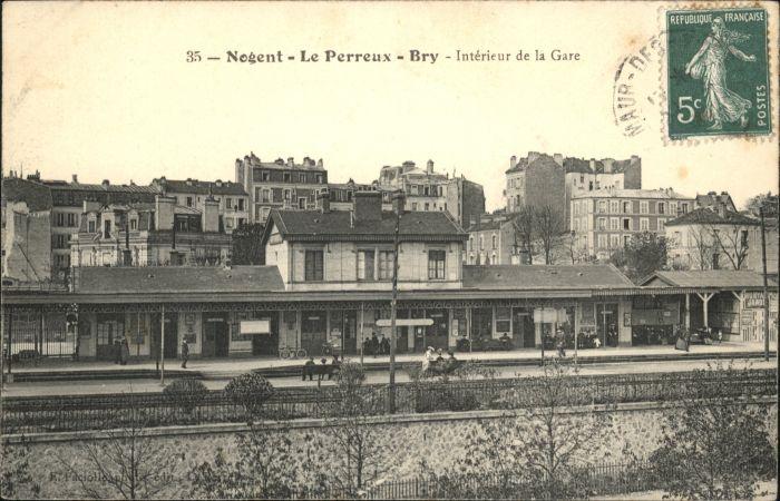 Le Perreux-sur-Marne Nogent-le-Perreux-Bry Interieur Gare Bahnhof x / Le Perreux-sur-Marne /Arrond. de Nogent-sur-Marne