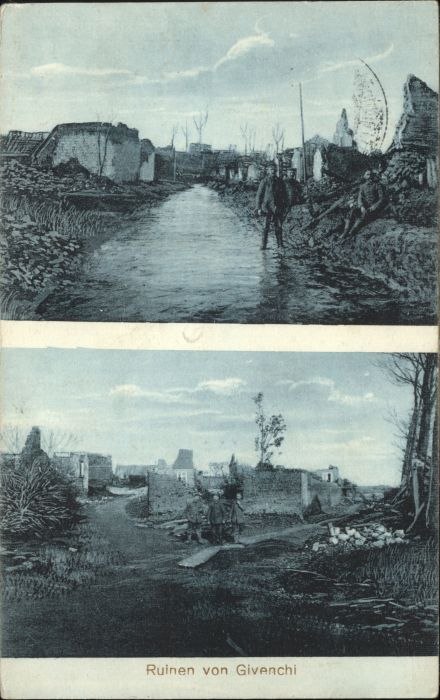 Givenchy-en-Gohelle Ruinen Zerstoerung WK1 x / Givenchy-en-Gohelle /Arrond. d Arras